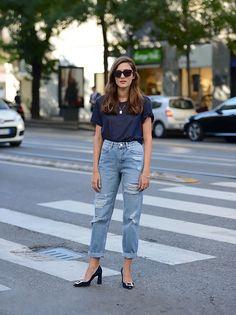 distressed norm jeans | Milan Fashion Week Spring 2016