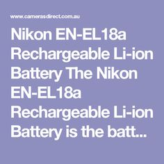 For what is now older Nikon DSLR cameras such as the etc cameras. This is the Nikon genuine battery you are looking to buy.