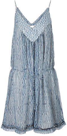 $395, Blue Print Playsuit: Zimmermann Shibori Porcelain Quilted Playsuit. Sold by Avenue32. Click for more info: http://lookastic.com/women/shop_items/112376/redirect