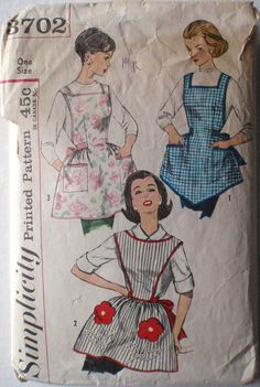 Vintage 1960's One Yard Apron Sewing Pattern  by Shelleyville