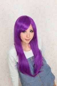 The Sunspots Basketball Bright Purple Straight Hair Cosplay Wigs
