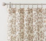 Lisette Scroll Linen Sheer Drape, 50 x 108