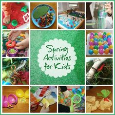 spring activities for kids page