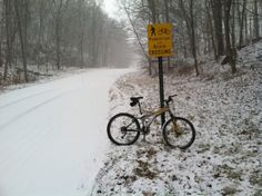 Snow? 's no problem. Especially in Rosendale, where they post a bike & hike caution sign on Hickory Bush Road. You can pick up a WVRT map at the Transfer Station there too.