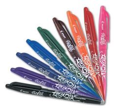 Pilot Frixion - Wicked Awesome Erasable pens that flow nicely like you would expect, but erase COMPLETELY!