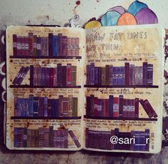Wreck this journal page by Sari R. ->> draw fat lines and thin <<-  #wreckthisjournal