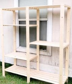 How to turn an IKEA bookcase into a CatioHow to turn an IKEA bookcase into a Catio Diy Cat Enclosure, Outdoor Cat Enclosure, Ikea Cat, Ikea Ikea, Ikea Bookcase, Cat Cages, Cat Garden, Cat Room, Cat Condo