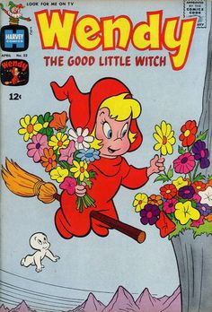 Wendy the Good Little Witch 23 Harvey 1964 Casper Spooky Old Comic Books, Vintage Comic Books, Vintage Cartoon, Vintage Comics, Comic Book Covers, Vintage Toys, Cartoon Posters, Retro Cartoons, Old Cartoons