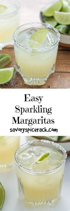 This Sparkling Margarita is made with fresh lime juice, homemade simple syrup, and a splash of club soda to give it some fizz. It's an awesome summer drink but between me and you, I drink it year round!