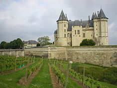 CHATEAU DE SAUMUR, France: was originally constructed as a fortified stronghold against Norman predations at the confluence of the Loire & the Thouet Rivers. It was rebuilt by Henry II of England in the later 12th century. In 1621 the castle was converted into an army barracks. Nearly two centuries later it was converted into a state prison under Napoleon Bonaparte.