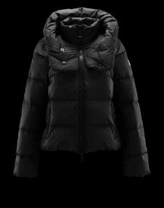 Women Moncler Jacket Moreau Black with outlet price