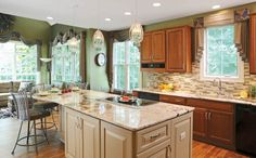 """The granite countertops used in this kitchen remodel were dubbed, """"Zen"""" to describe its tranquil, meditative appeal. @Dave Bird Fox Design Build Remodelers #davefox #housetrends"""