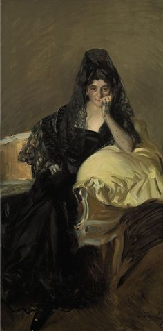 Portrait of the Spanish Señora de Urcola llevaba by Joaquin Sorolla y Bastida Spanish Painters, Spanish Artists, Paintings I Love, Beautiful Paintings, Portrait Paintings, Woman Painting, Painting & Drawing, Female Art, Les Oeuvres