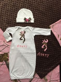 Personalized baby boy infant newborn real tree camo hospital or real tree camo baby girl personalized 3 piece gift set layette blanket hat homecoming outfit negle Image collections