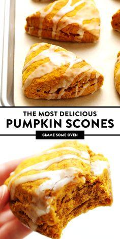 Fall Desserts, Delicious Desserts, Yummy Food, Fall Dessert Recipes, Health Desserts, Tasty, Scones Ingredients, Fall Baking, Pumpkin Dessert