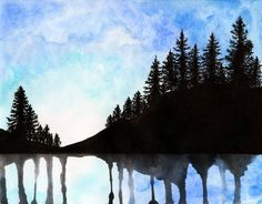 Canadian Forest Watercolour by paintthemoment