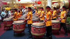 "Chinese New Years Drums in Kuala Lumpur. Short video showing ""lion dance drums"" and the style of music and drumming heard at Chinese New Years celebrations."