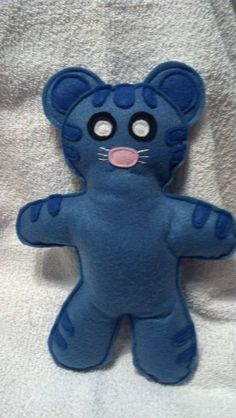 Daniel Tiger inspired Tigey doll. Made of all felt. Measures 10 inches from top to bottom.