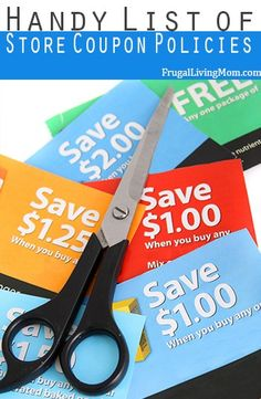 Need a handy place to bookmark with the Store coupons policies? Here is a list of Store Coupon Policies to pin or bookmark.