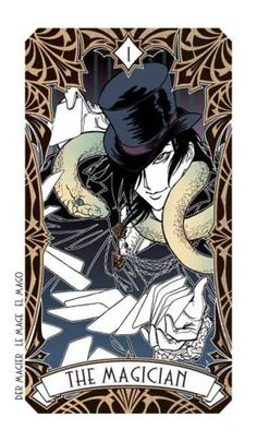 Divination - Tarot Magic Manga  +†+ #tarot #cards #magic #manga #deck #cartomancy #divination #magician