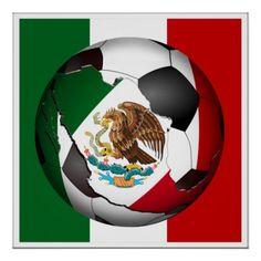 #Mexico #Soccer Ball Print by #gravityx9 -