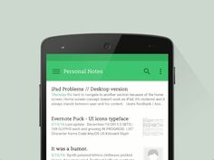 Evernote for Android - UI Movement