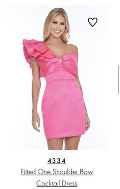 This resale Ashley Lauren pink size 2 cocktail dress on queenly is a gorgeous choice for your next formal event. See more Ashley Lauren dresses in all colors and styles, resale and brand new, on Queenly. One Shoulder Cocktail Dress, Pink Cocktail Dress, Best Gowns, Size 2, Plus Size, Girls Dresses, Formal Dresses, First Girl, Pageant