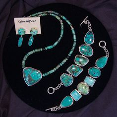 Turquoise art to wear jewelry designs by Steve Wolf available at Artifax