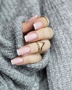 Pin on makeup / hair / nails – Nageldesign – Nail Art – Nagellack – Nail Polish – Nailart – Nails – Nails French Nails, French Manicure Acrylic Nails, French Manicure Nail Designs, Cool Nail Designs, Acrylic Nail Designs, Nail Polish, French Manicures, Nails Design, Nails French Design