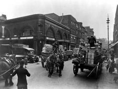 Long Acre and Covent Garden Underground Station, c. The nearby Covent Garden Flower, Fruit and Vegetable Market was the cause of consi. London Now, Old London, Blitz London, London Pride, London Landmarks, London Museums, Famous Landmarks, Covent Garden Station, Monuments