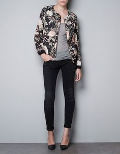printed bomber jacket - basically i just want to buy all the things that will make me look like CL