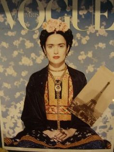 "Vogue cover with Salma Hayek as Frida Kahlo. Produced in conjunction with the 2003 film ""Frida"""