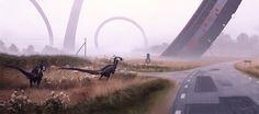 Con evocadores elementos futuristas, ajenos a la realidad conocida o paralelos a una realidad inexistente el artista Simon Stålenhag recrea en sus pinturas paisajes de ciencia ficción, donde los grandes espacios naturalista, las piezas metálicas, dinosaurios en paisajes increíbles y naves espaciales buscan provocar que le des rienda suelta a tu imaginación. En su biografía, Stålenhag actualmente […]