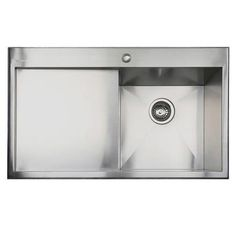 Taylor & Moore Charles Single Bowl Left Hand Drainer Stainless Steel Sink   Appliances Direct