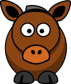 Free Image on Pixabay - Horse, Cow, Animal, Brown, Funny Cartoon Cartoon, Horse Cartoon, Photo Art Gallery, Animal Species, Ipad Sleeve, Graphic Patterns, Drawing For Kids, Online Art, Painted Rocks