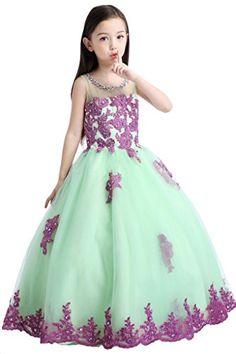 Hanayome High Neck Flower Girl Wedding Dresses R83 Size 2 Purple&Green Hanayome http://www.amazon.com/dp/B00PRM0CCM/ref=cm_sw_r_pi_dp_Oct1vb04D6C46