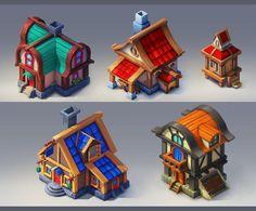 Houses by lepyoshka on DeviantArt
