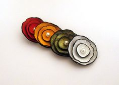 Multicolor cabochon flowers from leaher by HMCreativeSupplies, $9.20