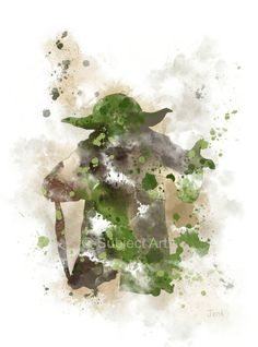 Yoda Star wars ART PRINT illustration Home Decor by SubjectArt