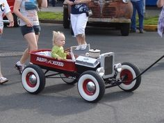 Little red hot rod wagon!  Born too soon.  But my Dad wouldn't let me have one, anyway...