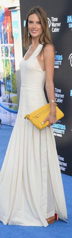 Alessandra Ambrosio: Dress – Robert Rodriguez Purse – Coach Shoes – Christian Louboutin