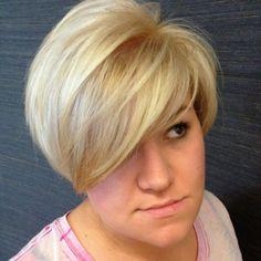 Cute short haircut. Blonde