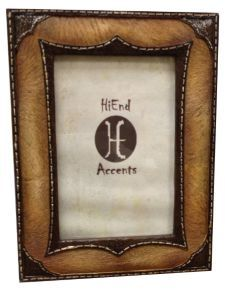 HiEnd Accents Leather Overlay Look Photo Frame - 4
