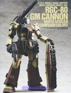 1/100 RGC-80 GM Cannon [North African Campaign Colors] - Custom Build