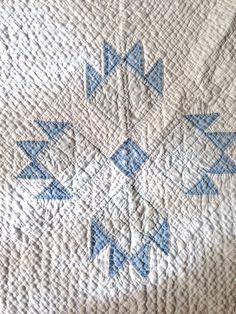 lovely old blue and white quilt