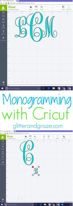 Quick and easy guide how to monogram with your cricut