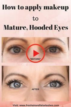 I& put together some ways that the average, everyday woman can deal with her more mature, hooded eyes by using a few, simple makeup tips. Beauty Tips Eyes, Beauty Make Up, Simple Makeup Tips, Makeup Tips For Beginners, Red Lipstick Makeup, Blue Eye Makeup, Hooded Eye Makeup, Hooded Eyes, High End Cars