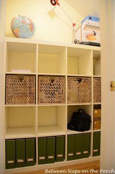 Craft Room Inspiration: IKEA Expedit Inside Closet