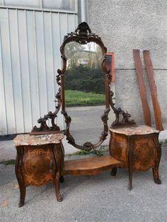 Beautiful Carved Italian Antique Marble Top Bedroom Set Vanity 12IT052F | eBay