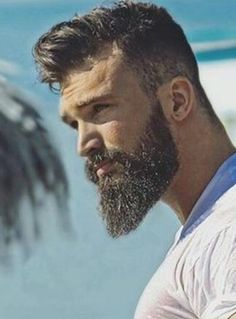 Long Comb Over + Beard + Mid Fade Cut – coiffures et barbe hommes Faded Beard Styles, Long Beard Styles, Hair And Beard Styles, Long Hair Styles, Beard Fade, Beard Look, Sexy Beard, Beard Cuts, Long Comb Over